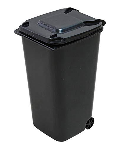 YBN Mini Bote de Basura con Ruedas de plástico Rectangular 650L Reciclaje Papelera Domésticos de Cocina Salón Dormitorio Bote de Basura con Tapa fácil de Limpiar,Negro