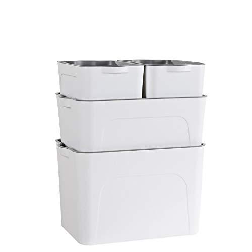 YDOZ Kleidung Aufbewahrungsbehälter Plastikaufbewahrungsbehälter, Desktop Storage, dreiteilig, DREI Farben Optional Wäschekorb (Color : C)