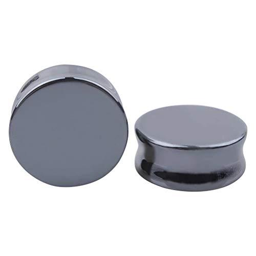 TENDYCOCO 1 par 22 mm Kit de dilatadores para Orejas joyería Piercing del Cuerpo (Negro)