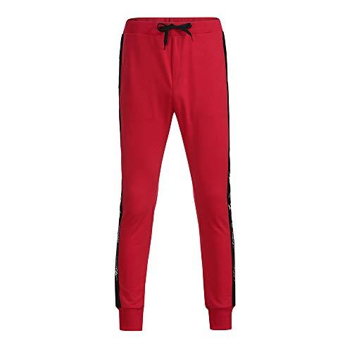 Celucke Freizeithose mit elastischem Beinabschlus   Seitlich gestreifte Jogginghose Herren   Männer Trainingshose Slim Fit   Mode Jogger Sweatpants