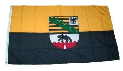 MM Sachsen-Anhalt Flagge/Fahne, 150 x 90 cm, wetterfest, mehrfarbig, 16203