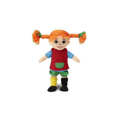 Micki & Friends 44371600 - Pippi Langstrumpf Puppe 20 cm - Stoffpuppe - Teddy - Plüschpuppe - abnehmbare Kleidung - ab 10 Monate