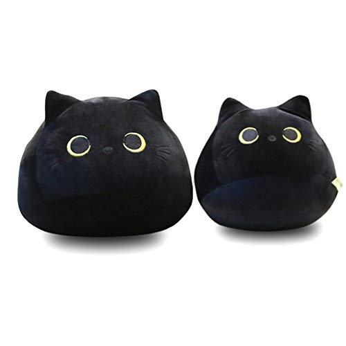Rongchuang Plüsch Tier Umarmt Kissen Kleinkind Spielzeug, Schwarze Katzen Form Puppe Plüsch Spielzeug Kuschelig Weich Ausgestopft Teddy Tier Kinder Geburtstag Baby Kissen Süßes Geschenk