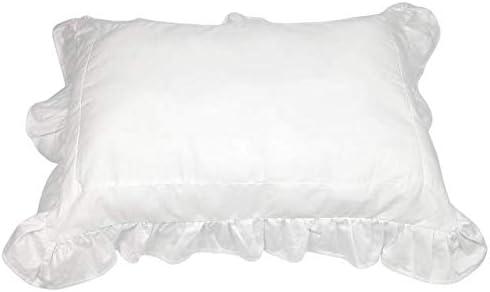 Valsonix Toddler Pillowcase Ruffled Farmhouse Design (White Dove)