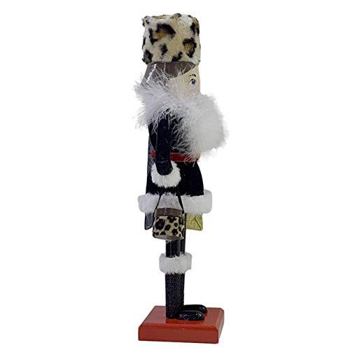tanbea-UK Cascanueces de madera decorativa de 38 cm, diseño de cascanueces de Navidad, cascanueces de madera, juguete de marioneta