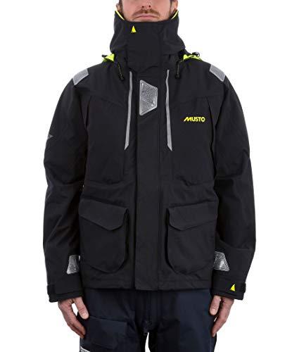 Musto Herren BR2 Yacht Segeln und Bootfahren Offshore Coat Jacket Schwarz - Atmungsaktiv Wasserdicht Sprayproof