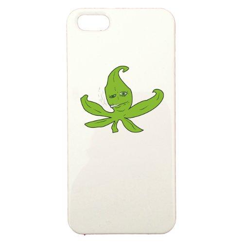 Cover di protezione personalizzabile in plastica–Apple–iPhone 5–Sad Cannabis–Colore: Bianca