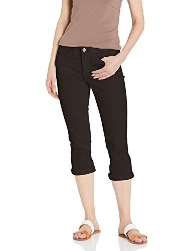 LEE Women's Flex Motion Regular Fit 5 Pocket Capri Jean, Black, 10