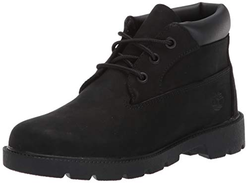 Timberland Boys' 3 Eye Chukka Ankle Boot, Black Nubuck, 12 Medium US Toddler