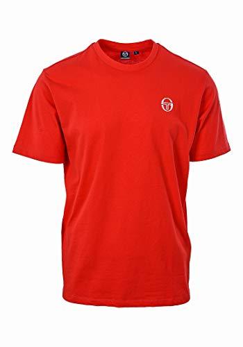 Sergio Tacchini Sergio Ss20 T-Shirt, Maglietta da Uomo, Rosso Vintage, XXL