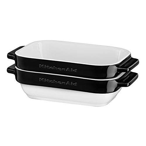 KitchenAid KBLR02MBOB Set 2 Mini Pirofile, 20 x 11.5 X 7 Cm - Nero Onice