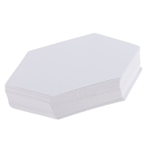 FLAMEER 100pcs Papier Quilten Vorlagen, Diamant Schablonen Patchworks Vorlagen Papier - Farbe 3, 7,9 cm