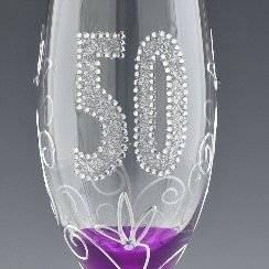 Boxer 50 Traditional Glitz 50th Birthday Flûte à Champagne dans une boîte-cadeau