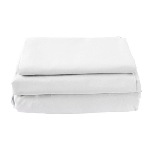 Juego de sábanas de microfibra suave cepillada, tamaño grande, 1800 hilos en el pulgar, color blanco, resistente a la decoloración.