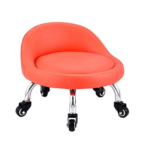 QFdd Adulte Enfant S'accroupir sur Le Sol pour Travailler/Jouer Petite Chaise avec Roues, Siège Rembourré épais Châssis en Acier pour Jardin d'enfants Maison Bureau