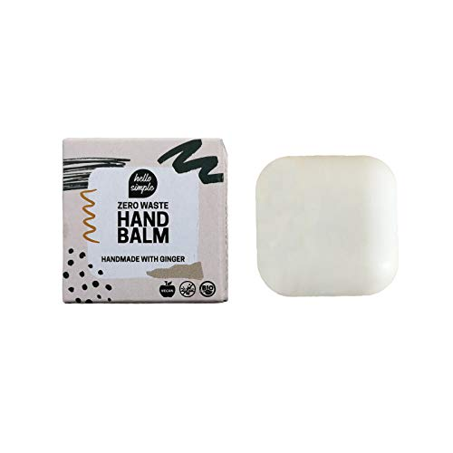 hello simple - Feste Handcreme, Zero Waste Handbalm, Handpflege - nachhaltige Naturkosmetik ohne Mikroplastik - plastikfrei, vegan