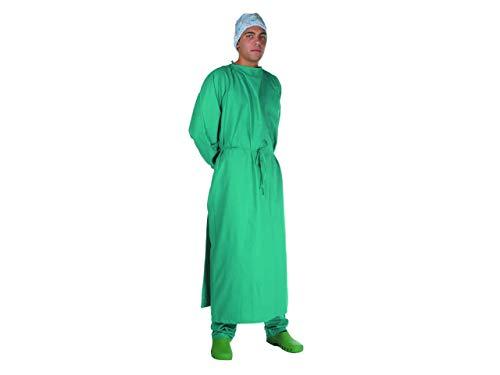 Gima 26162Kittel für Operationssaal, Größe 52–56, Grün, für chirurgische Eingriffe im Krankenhaus oder in der Tierklinik