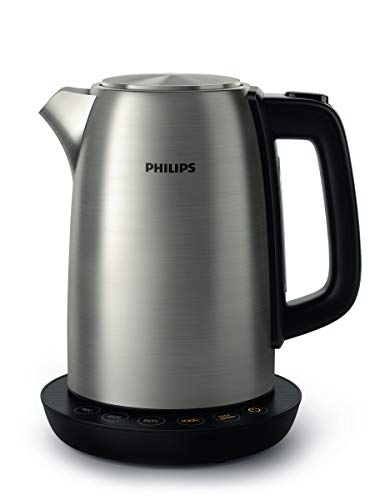 Philips-HD935990-Wasserkocher-aus-Edelstahl-fuer-Tee-bis-Babynahrung-2200-Watt-17-Liter-Warmhaltefunktion