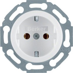 Berker 414520 Steckdose SCHUKO 1930/Glas