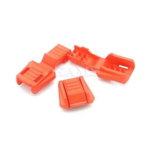 Sourcingmap Kordel-Enden für Paracord & Amp, Kunststoff, bunt, 12 Farben, Orange, 12 Stück