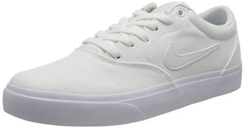 Nike SB Charge SLR, Zapatillas de Deporte Unisex Adulto, Blanco (White/White/White 000), 42.5 EU