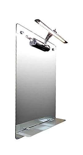 Spiegel-Infrarotheizung 150 Watt, LED-Beleuchtung, Infrarot-Glasheizung, HDW