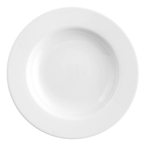 Saturnia Ischia Assiette Porcelaine Blanc 23 X 23 X 4 cm - Lot De 12