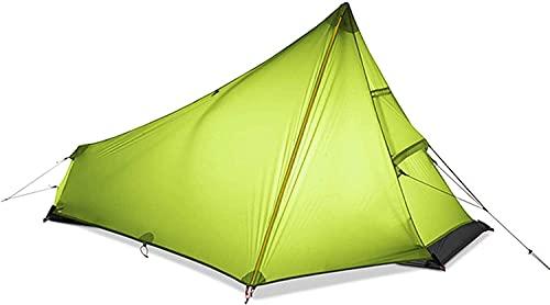 Ankon Tienda de Tiendas de Tiendas de cúpula compactas para Camping Tienda Oudeor Camping Tienda 3 Temporada 1 Persona Soltera Nylon Silicon Recubrimiento Tienda de campaña Camping Camping
