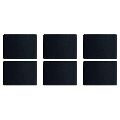 ASA Selection 7805420 table top Lederoptik Tischset, 46 x 33 cm, Kunststoff, schwarz (6 Stück)