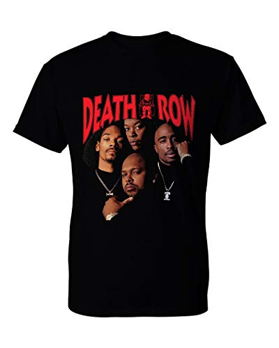 Death Row Records Tupac DRE Lack Tee Shirt Mens Round Neck Short Sleeves Cotton Bottoming T-Shirt Fashion Tops
