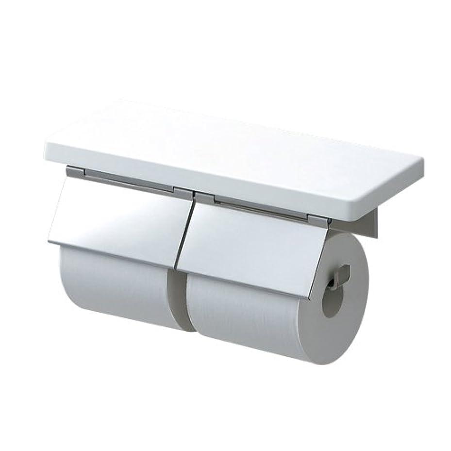 束ねるマトロン積極的にTOTO 二連紙巻器 棚付き(木質) ステンレス製(マット) ホワイト YH403FW#NW1