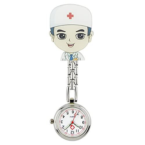 Reloj Niño ZWRY Reloj de Enfermera de plástico Duro Imagen de Dibujos Animados Reloj Colgante de Enfermera Reloj de Pecho Lindo Reloj de Doctor de plástico Suave 18