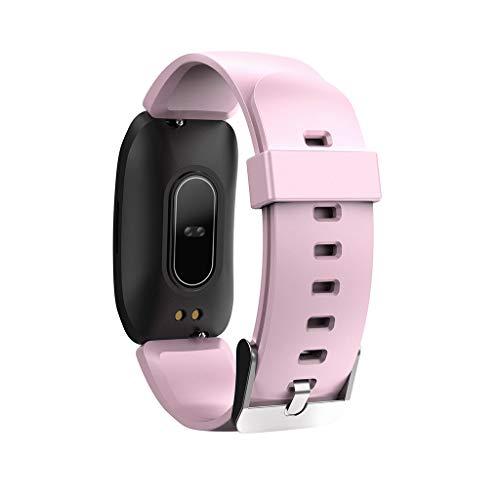 TwoCC Smartwatch mit Wasserdichtem Herzfrequenzmesser für Ip68-Aktivitätsmesser Und Blutdruckmessgerät-Schrittzähler-Schlafmonitor für Frauen Und Männer(Rosa)