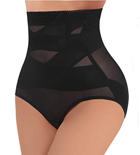 LODAY High Waist Shapewear Panties for Women Butt Lifter Tummy Trainer Seamless Underwear (Black Shaper Briefs, L)