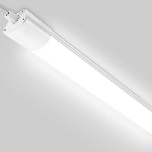LED Feuchtraumleuchte 120CM, Oeegoo 32W 2800LM Werkstattlampe(200W Glühbirne Ersatz), IP65 Wasserdicht Flimmerfrei Wannenleuchte für Werkstatt, Garage, Lager, Garten, Feuchtraum, 4000K