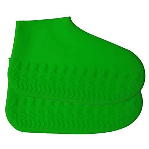 Buy Discount 1 Pair Silicone Waterproof Rain Shoes Covers Unisex Outdoor Non-Slip Children Adults Rain Boot Overshoes