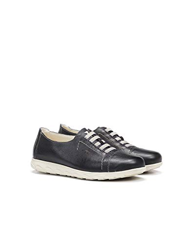 Fluchos | Zapato de Mujer | NUI F0854 Samun Atlantic C.1 | Zapato de Piel | Cierre con Elásticos | Piso de Goma