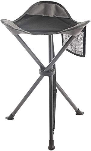 Ever Advanced Taburete Plegable de Acampada, Silla Portátil de Aluminio al Aire Libre para Senderismo Pesca Viajes Picnic Barbacoa, Capacidad de Peso 102kg, Negro