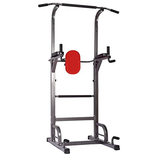 BHOLIA Multifunctional Power Tower Workout Dip Station Pull Up Bar Stand Dip Bars Fitness for Home Gym Men Women Dip Station Calisthenics Fitness Equipment