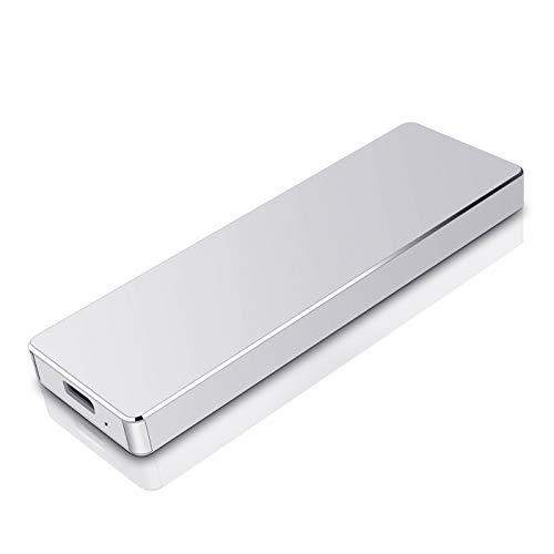 Hard Disk 2tb Esterno Portatile USB 3.1 Hard Disk Esterno per PC, Mac, MacBook, Chromebook, Desktop, Laptop (2tb, argento)