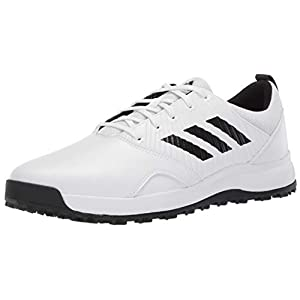 adidas Men's CP Traxion SL Golf Shoe, FTWR White/core Black/Grey six, 8.5 M US