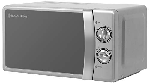 Russell Hobbs RHMM701S 17 Litre 700 W Silver Solo Manual Microwave with 5 Power Levels, Ringer & Timer, Defrost Setting, Easy Clean