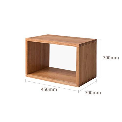 Hoekplanken, massief houten combikast, TV-combikast, zijkast, beweegbaar, flexibel legrooster