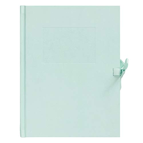 """kikki.K Everyday Essentials Designer Collection - DIY Album Mint Cover with 23 White Inside Pages, Each Pages Fits Two 4x6 Photos or One 5x7 Photo, Measures 9.45"""" L x 7.09"""" W x 0.98"""" H"""
