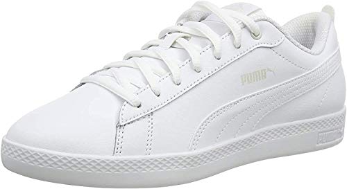 PUMA Smash v2 Leather, Baskets Femme, White White, 39 EU