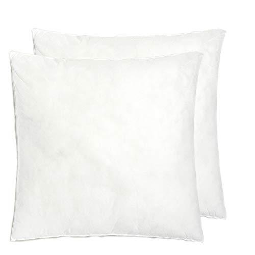 [Pack 2] Relleno cojín 45x45 | Relleno almohada. Relleno de fibra hueca, hipoalergénico, indeformable y lavable. 100% poliéster. Varias medidas.