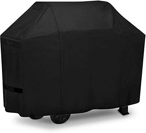 iCOVER Grill Cover 55in, 600D Heavy Duty with Mesh Air Vent, Waterproof Barbecue Gas Smoker Cover, UV and Fade Resistant, Fits Weber Char-Broil...