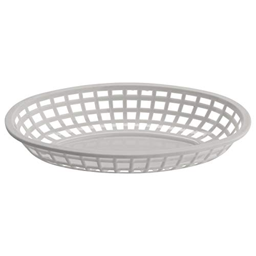 GET OB-938-W Oval Serving/Bread Basket, 9.5' x 6', White (Pack of 12)
