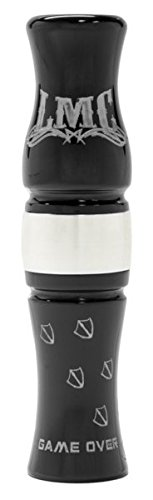 The Game Over Precision CNC Turned Acrylic Canada Goose Call, Stealth Black, Size 5.25