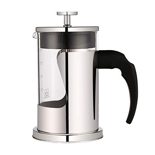 YXXHM- Pressione pentola di Acciaio Inox, Vetro caffettiera Francese Filtro a Pressione, tè, caffè Press, 600ml